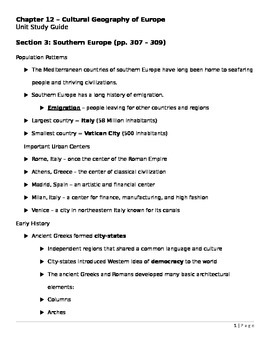 Southern and Eastern Europe ppt lecture notes
