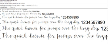 Southernsuedesigns Calligraphy Font