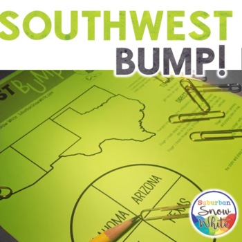 Southwest Bump Game for United States, U.S. Capitals, and Abbreviations