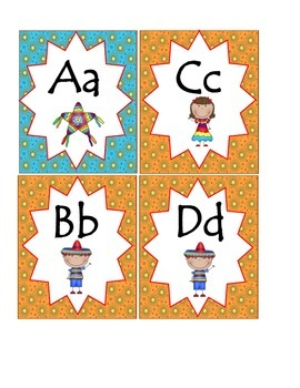 Southwest Fiesta Word Wall Headers