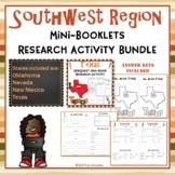 Southwest Region Bundle of 4 State Webquests Mini Book Research Activities