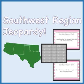 Southwest Region Jeopardy Style Review Game