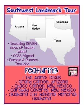 Southwest Region Landmark Postcard Project! Nonfiction texts & Lesson Plans!