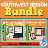 Southwest Region Lapbook and Unit Bundle Print and Distance Learning
