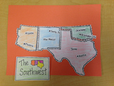 Southwest Region Puzzle-Label States and Capitals