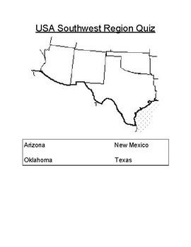 Southwest Region Quiz