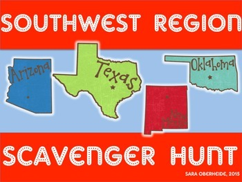 Southwest Region Scavenger Hunt - U.S. Regions