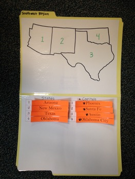 Southwest Region Study Folders-States and Capitals