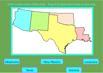 Southwest Region U.S. States and Capitals Boom Cards, Geography, Map Skills