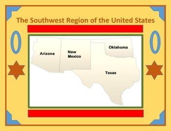 Southwest United States Region Interactive Notebooks Bundle
