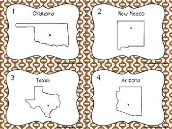 Southwest State Region Task Cards