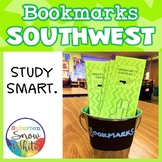 Southwest United States Bookmarks with States, Capitals, a