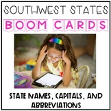 Southwest States, Capitals, and Abbreviations Digital Boom Cards