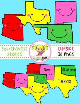 Southwest States Clipart