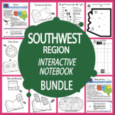 Southwest Region States Interactive Notebook Bundle + AUDIO!