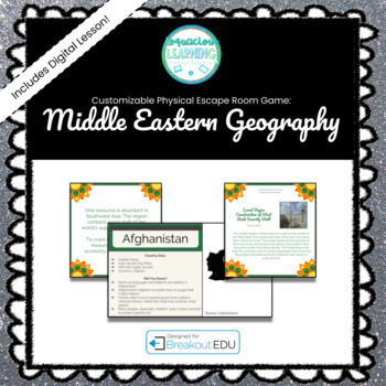 Southwestern Asia / Middle East Customizable Escape Room / Breakout Game