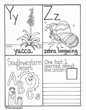 Southwestern Desert ABC Mini Book and Activities