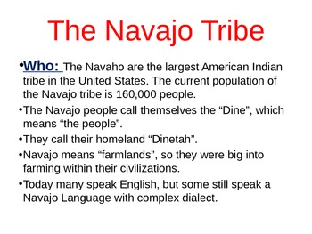 Southwestern Indian Tribes PowerPoint