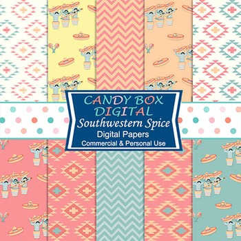 Southwestern Spice Digital Background Papers