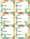 Southwestern Theme Login Cards -- EDITABLE!
