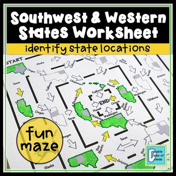 Southwestern and Western States Worksheet