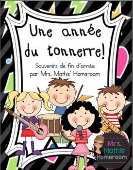 Souvenirs de fin d'année (Year-End Memory Book in FRENCH)