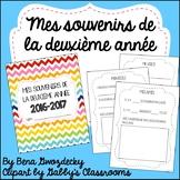 {Souvenirs de la deuxième année!} A memory book for the end of the year