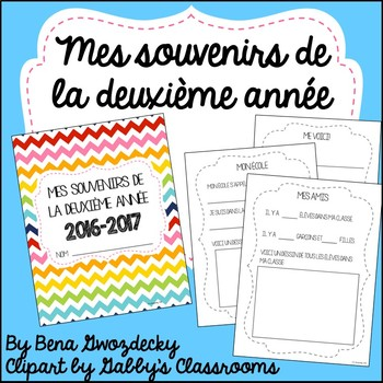 {Souvenirs de la deuxième année!} A memory book for the end of the year