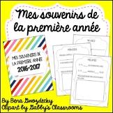 {Souvenirs de la première année!} A memory book for the end of the year