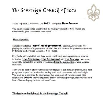 Sovereign Council of 1663 Debate