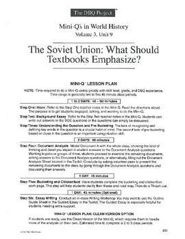 Soviet Union: DBQ