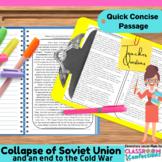 Collapse of Soviet Union: Non-Fiction Reading Passage: US History