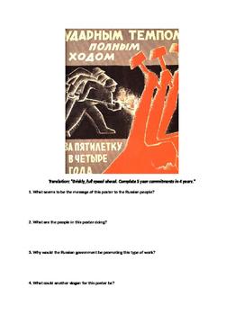 DBQ's: Soviet Union and Communist Propaganda Analysis Bundle Assignments