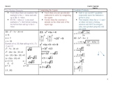 Soving quadratics graphic organizer