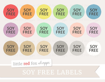 Soy Free Label Clipart; Food Allergy, Nutrition