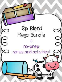 Sp Blend Mega Bundle! [11 no-prep games and activities]