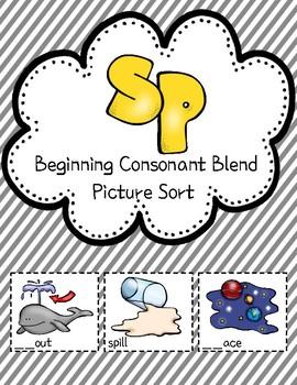 Sp Consonant Blend Picture Sort