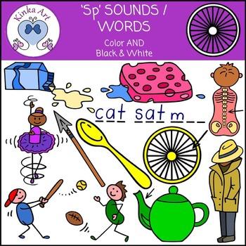 Sp Sounds / Words: Beginning Sounds Clip Art