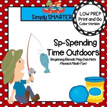 Sp-Spending Time Outdoors:  LOW PREP Summer Themed Blends Play Dough Mats