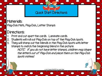 Sp-Spending Time Outdoors:  LOW PREP Summer Themed Blends Play Dough Mats