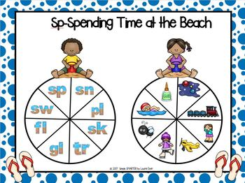 Sp-Spending Time at the Beach:  NO PREP Beach Themed Blends Spin Game