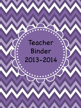 SpED Teacher Binder Cover and Page Inserts