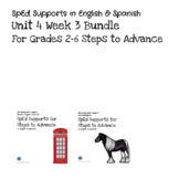 SpEd Supports for 2-6 Grades Steps to Advance Unit 4 Week 3
