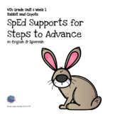 SpEd Supports for 4th Grade Steps to Advance Unit 6 Week 1
