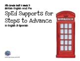 SpEd Supports for 5th Grade Steps to Advance Unit 4 Week 3