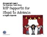 SpEd Supports for 6th Grade Steps to Advance Unit 4 Week 3