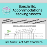 SpEd Tracker for Music, Art and PE