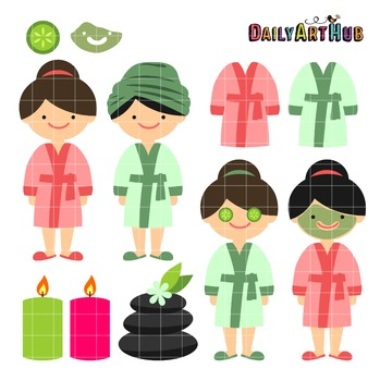 Spa Day Clip Art - Great for Art Class Projects!