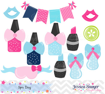Spa Day Clipart and Vectors