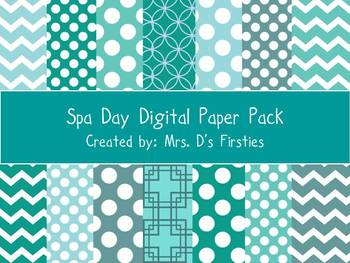 Spa Day Digital Paper Pack
